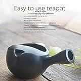 和食器 常滑焼 美味しい お茶 蓋なし 急須 ティーポット 黒泥 茶漉し付 茶器 食器 緑茶 紅茶 ハーブティー おうち うつわ 陶器 日本製