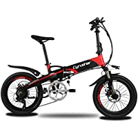 Extrbici XF500 折りたたみ mini自転車 MTB ミニ マウンテンバイク 250W 48V * 10Aリチウム電池(フレームに隠し) 20インチ超軽量 シマノ7段変速 サスペンション 荷台付