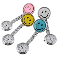 Niome New Smile Face Nurse Fob Brooch Pendant Pocket Watch