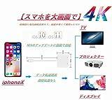 【2018年最新版】iphoneX/8/7対応 Lightning HDMI 変換ケーブル 4K高解像度 iPhoneの画面をテレビに映し出す Lightning to HDMI変換アダプタ iOS11対応 設定不要 iPhone/iPad/iPod対応 KOVOL