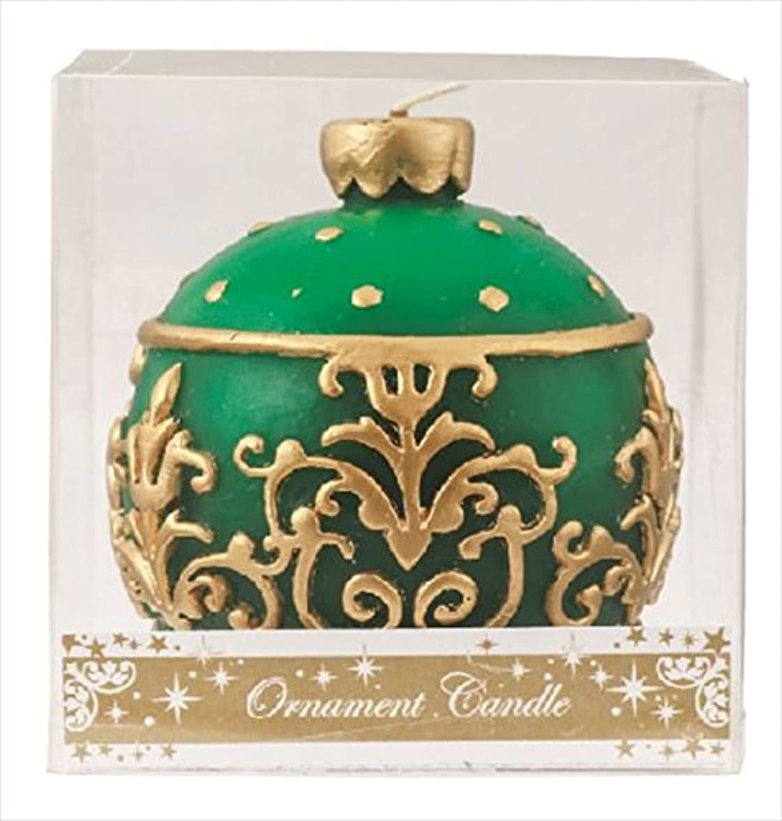 黒古くなった妊娠したカメヤマキャンドル(kameyama candle) オーナメントキャンドル 「 グリーン 」