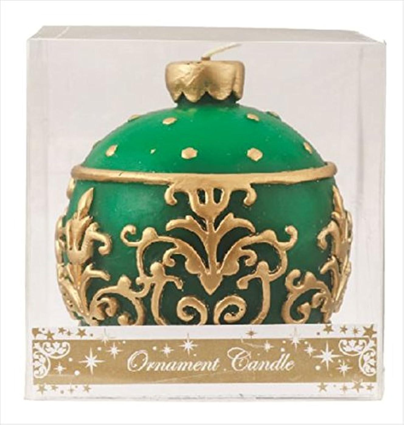 ゾーンぼかす雪カメヤマキャンドル(kameyama candle) オーナメントキャンドル 「 グリーン 」