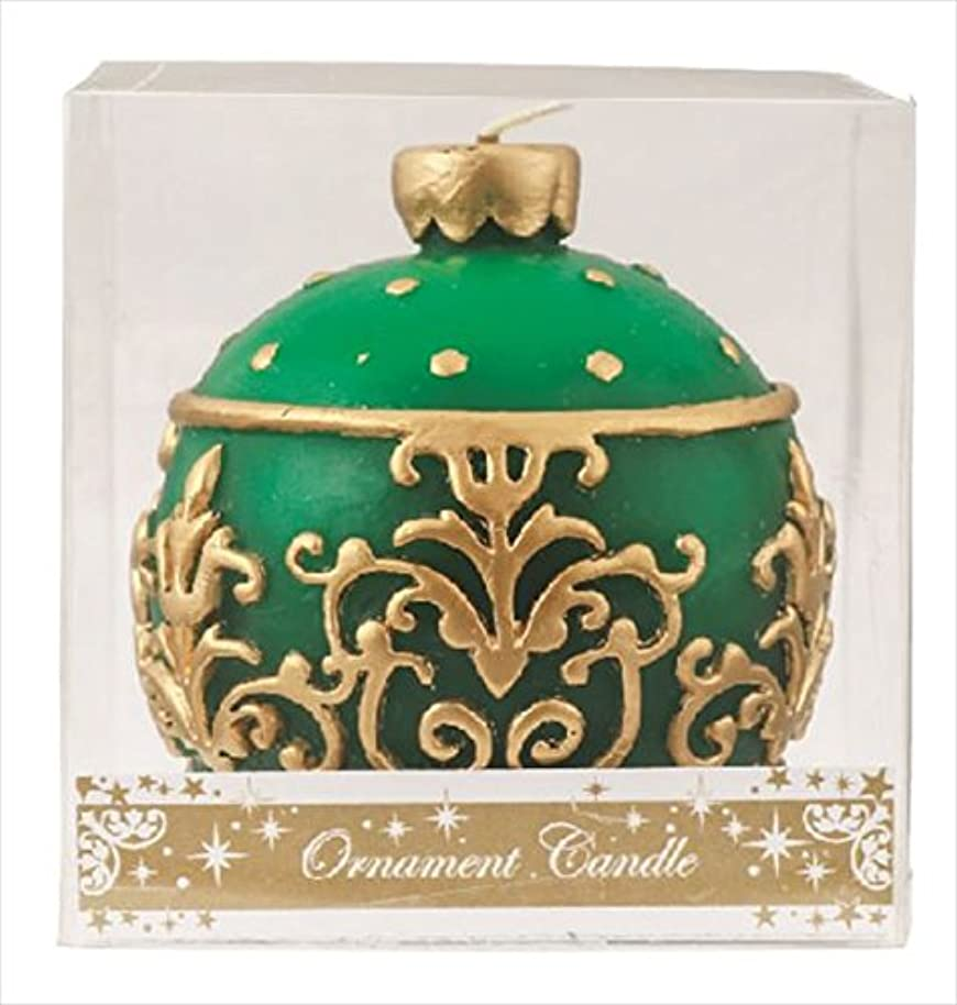 カバー移動損失カメヤマキャンドル(kameyama candle) オーナメントキャンドル 「 グリーン 」