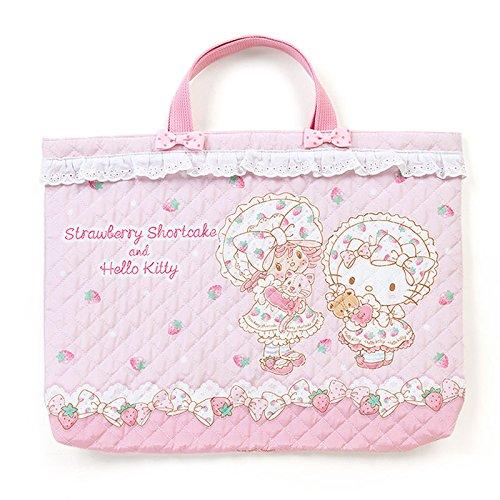 ハローキティ×ストロベリーショートケーキ キルティング手さげバッグ