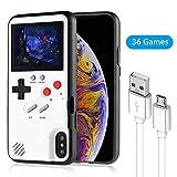 レトロゲーム付きのスマホケース,携帯 カバー 多機能 iPhone 6/6s/7/8/Plus/11/11Pro/X/Xs/Xsmax/Xr ケース (白-iPhone X/Xs)