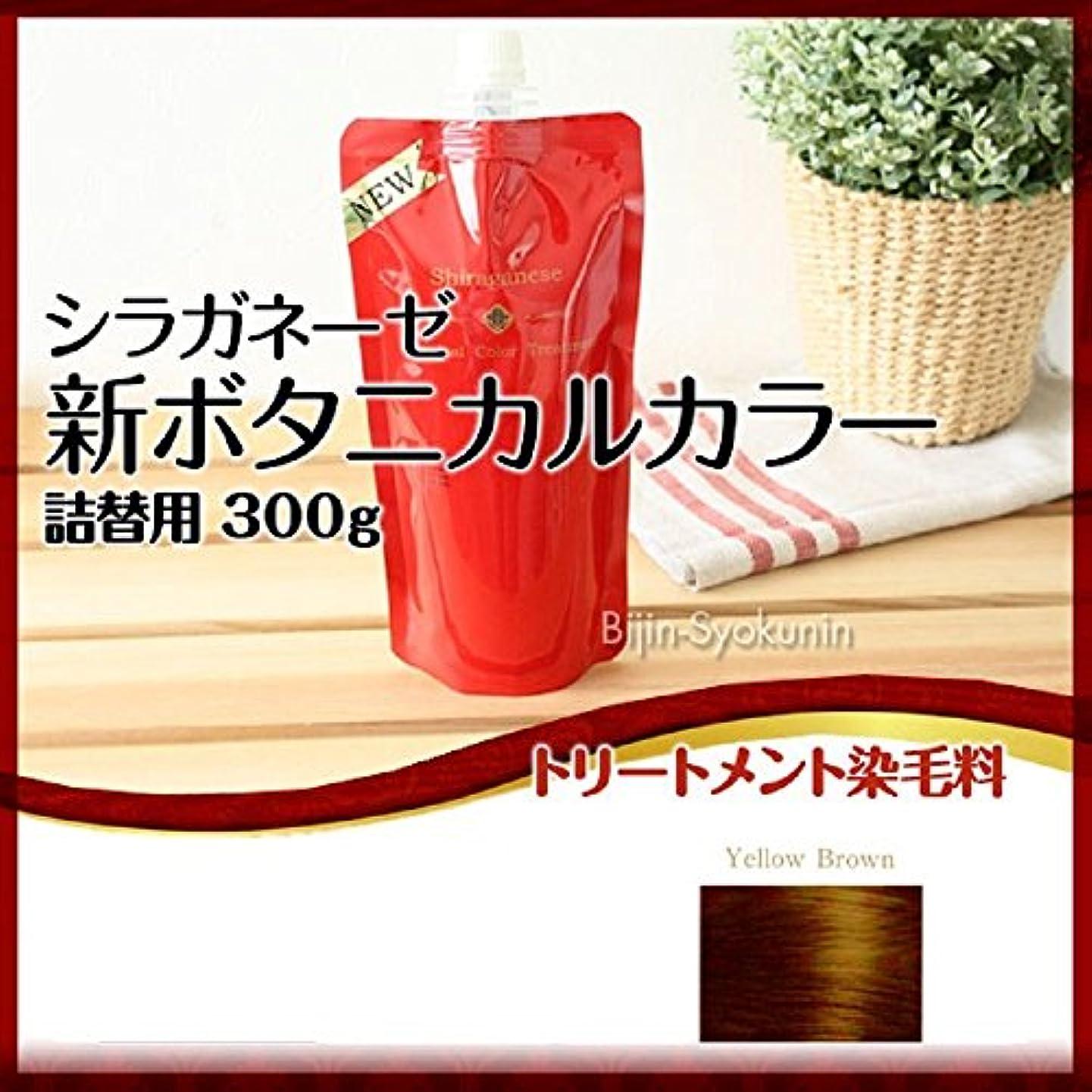 笑い引退した豆腐シラガネーゼ ボタニカルカラートリートメント イエローブラウン 300g