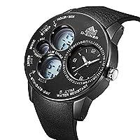 1d753b903a メンズカジュアルビジネスファッションクラシックラグジュアリースポーツ多機能カレンダークロノグラフウォッチステンレススチール防水