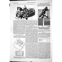 1875のアメリカの根の抽出器の黒の平衡の小屋のガトリング砲の設計