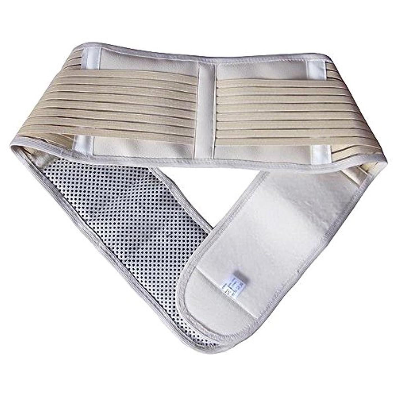 配管工バスオッズ自然治癒力を引き出す 腰痛ベルト コルセット 貴石 トルマリン 遠赤外線 磁気パワーで 体の芯から ぽっかぽか (M, ベージュ)