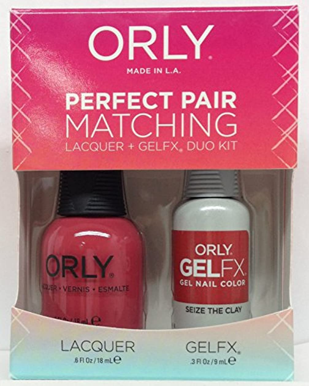ひばり多様な比較Orly - Perfect Pair Matching Lacquer + GelFX Kit - Seize the Clay - 0.6 oz/0.3 oz