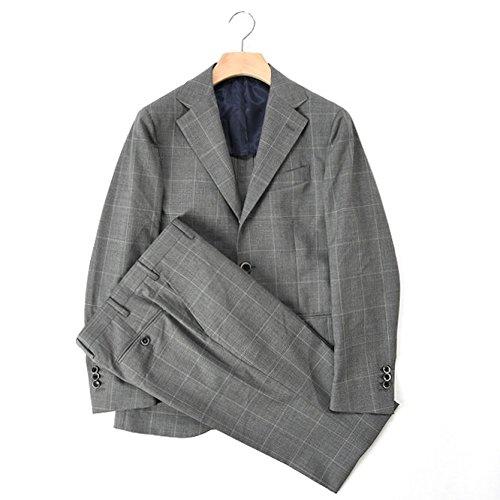 Donnanna (ドンナンナ) スーツ シングル段返り3B ウィンドウペーン チェック ウール 100% メンズ ブランド イタリア【並行輸入品】
