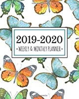 2019-2020 planner butterflies: Butterflies Diary Agenda Calendar Schedule Organizer | Sept 2019 through December 2020