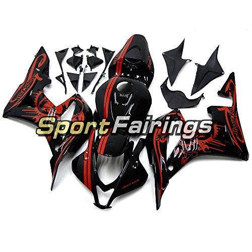 Sportfairings 外装部品の適応モデル ホンダ CBR600RR CBR600 RR の 完全なオートバイフェアリングキット F5 年 2007 2008 インジェクション ABS 樹脂黒赤ボディ