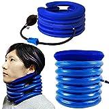 OHMI ゴム製 高耐久 エアー式 頚椎牽引器 頸椎 ネック ストレッチャー 首 こり 痛み ストレッチ (ハイグレード)