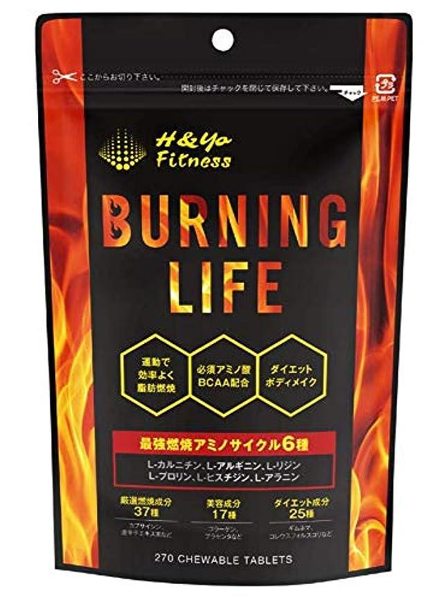 特異性変化半島BURNING LIFE 燃焼系ダイエットサプリ L-カルニチン 必須アミノ酸BCAA配合 運動時の燃焼を強力サポート 270粒 (1か月分)