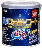 アサヒペン ペンキ 水性スーパーコート 水性多用途 ツヤ消し黒 0.7L