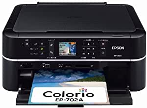 EPSON Colorio インクジェット複合機 EP-702A 2.5型カラー液晶 6色染料インク