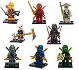 8pcs / lot Decool Cole kai Jay Zane Ninja MinifiguresビルディングブロックFigures Gifts Toys