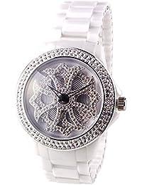 アンコキーヌ AnneCoquine セラミッククロス【ホワイト】1118-0101  腕時計 グルグル時計 ぐるぐる時計