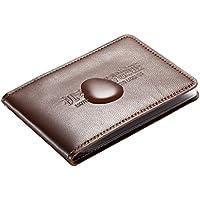 Baosity 運転免許 IDカード ポッチ 名刺 ミニ財布 男女用 羊皮 耐引掻性 耐水性 褐色