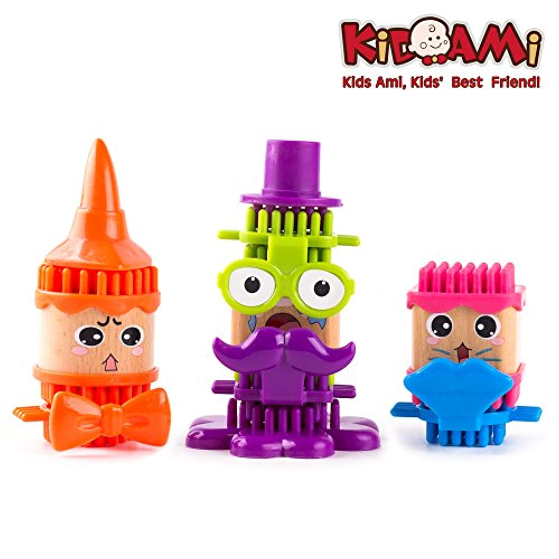 KIDAMI はめこみおもちゃ 組み立て式形合わせ 木製 パーツを重ね 創造力/想像力が養われゲーム 知育玩具
