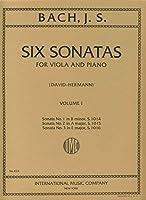 BACH - Sonatas (6) de Violin Vol.1: nコ 1 a 3 para Viola y Piano (David/Hermann)