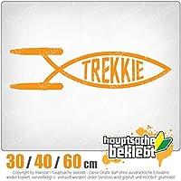 Trekkie fish - 3つのサイズで利用できます 15色 - ネオン+クロム! ステッカービニールオートバイ
