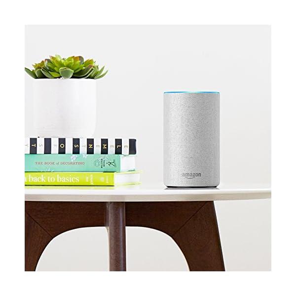 Amazon Echo、ヘザーグレー (ファブ...の紹介画像3