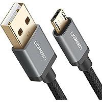 UGREEN Micro USB ケーブル 急速充電 android ケーブル 高速データ転送 ナイロン編組み 10000回+の曲折テスト Xperia XZ、PS4、Galaxy、Huawei、Nexus、Sharp、Hujitsu、Xbox、カメラ等Android Micro USB対応 1m