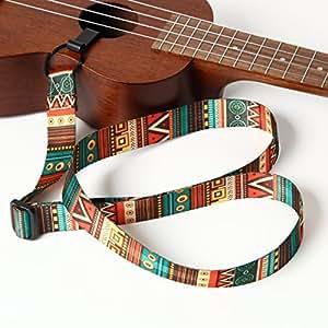 GONKISS ウクレレ ギタレレ ミニギター ウクレレストラップ 緑