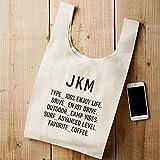 JKM コットン マルシェバッグ (M) 収納エコバッグ 折り畳み 折りたたみ トートバッグ