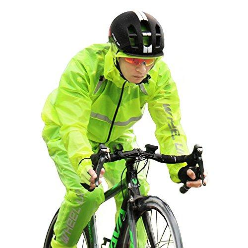 Fastar 自転車レインコート レインウェア 上下セット 大きいツバ 薄地雨具 男女兼用 防水 登山 梅雨 カッパ 通勤 通学 携帯便利
