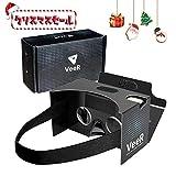 【新型】VeeR Google Cardboard グーグル・カードボード 3D VR ゴーグル 額汗止めパンド ベルト付き iPhone SONY Samsung HUAWEI HTC 全スマホ機種対応 クリスマスプレゼントとしても絶賛 100選+ VR 神ゲーム特集付き
