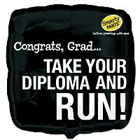 Take Your Diploma and Run Graduation Foil Balloon あなたのディプロマを取得し、卒業フォイルバルーンを実行♪ハロウィン♪クリスマス♪