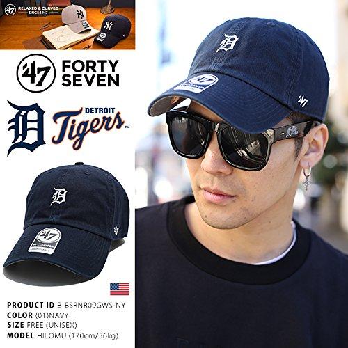 【B-BSRNR09GWS-NY】 フォーティーセブンブランド 47BRAND ローキャップ CAP 帽子 MLB メジャーリーグ デトロイト タイガース 正規品 (01)紺 Fサイズ(男女兼用)