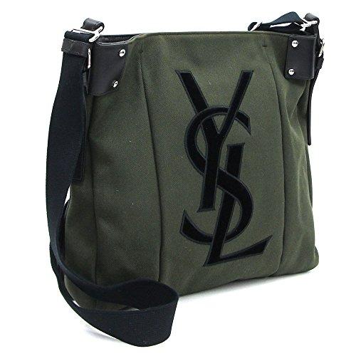 Yves Saint Laurent(イヴサンローラン) ショルダーバッグ カハラ 133164 グリーン ブラック キャンバス レザー 中古 YSL メンズ ボディバッグ メッセンジャーバッグ YVES SAINT LAURENT [並行輸入品]