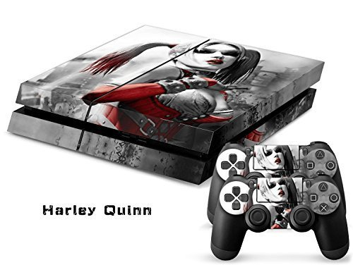 CAN Ps4 Console Designer Protective Vinyl Skin Decal Cover for Sony Playstation 4 & Remote Dualshock 4 Wireless Controller Stickers - Harley Quinn [並行輸入品]
