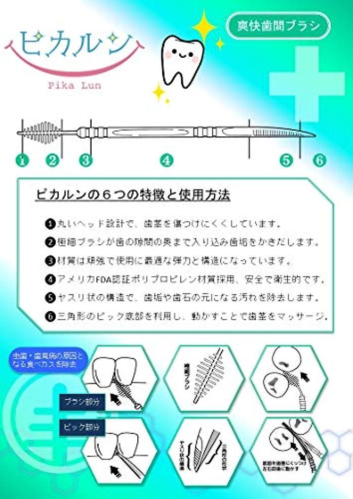 テクニカルポジション知覚できる歯間ブラシ ピカルン (ホワイト)