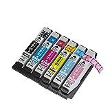 全色増量版【KOMONO市場オリジナルブランド】【1セット6個】IC6CL70L ハイグレードタイプ 6色×1セット EPSON エプソン 互換 インク 対応機種:EP-306、EP-706A、EP-775A、EP-775AW、EP-776A、EP-805A、EP-805AR、EP-805AW、EP-806AB、EP-806AR、EP-806AW、EP-905A、EP-905F、EP-906F、EP-976A3【JANコード:4562487223670】