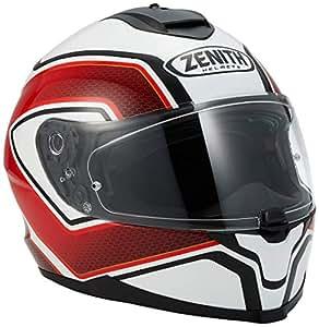 ヤマハ(YAMAHA) バイクヘルメット フルフェイス YF-9 ZENITH サンバイザーモデル スポーツストライプ レッド XLサイズ(61-62cm) 90791-1787X
