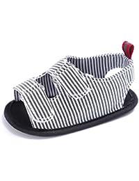 Zhengpin ストライプ 柔らかいソールシンプル カジュアル 女の子 男の子 乳児子供靴
