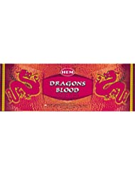 Hem Dragon's Blood Incense (Box of 6 20gram tubes) by Hem