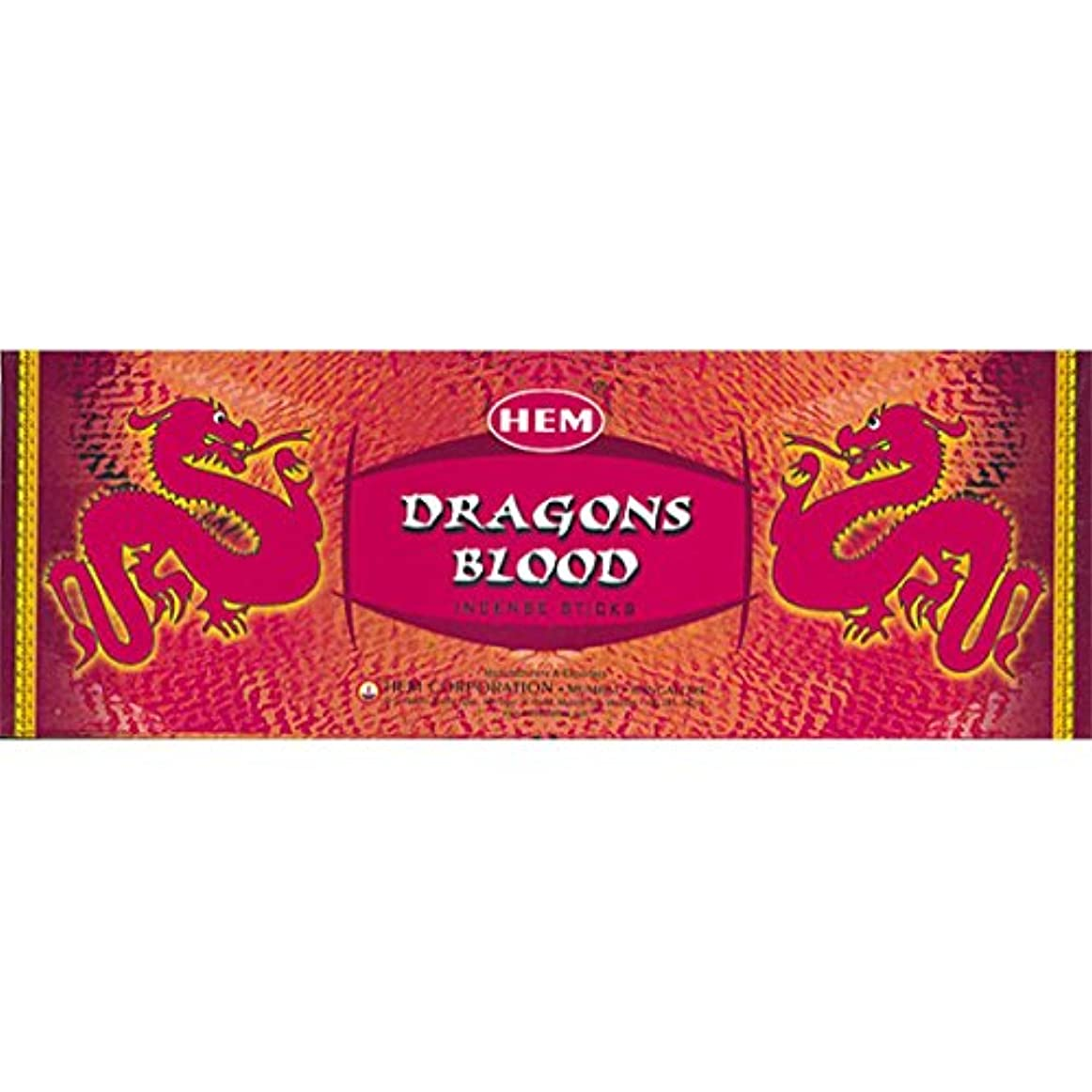 郡ベッド非難Hem Dragon's Blood Incense (Box of 6 20gram tubes) by Hem