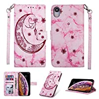 iPhone XR Case,[Drop Protection] Abtory Folio Flip Case Wallet Case [ID Credit Card and Cash Slots] with Kickstand Stand Flip Cover for iPhone XR Pink