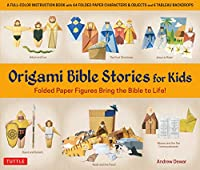 Origami Bible Stories for Kids Kit: Paper Figures and 9 Stories Bring the Bible to Life! [Everything you need is in this box! Full-color book with easy instructions, plus 64 patterned folding sheets]
