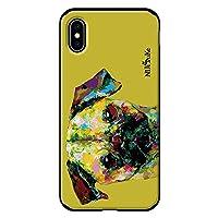 iPhoneXS Max iPhoneケース (ハードケース) [ミラー付き/カード収納/耐衝撃] Nijisuke (ニジスケ) パグ CollaBorn