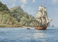 pigbangbang、ハンドメイド20.6X 15.1インチプレミアムBasswood明るいカラフルな500ピースジグソーパズルfor Adult inボックスは、壁画ホームdecoration-painted Ship