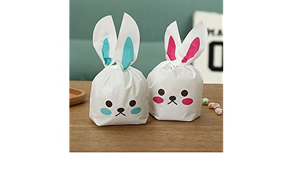 Amazon 50pcs bunny shape goodie treat party gift bags for amazon 50pcs bunny shape goodie treat party gift bags for birthday party supplies negle Image collections