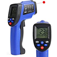 COLEMETER 非接触温度計 デシタル温度計 赤外線温度計 赤外線放射温度計 デシタル測定器 ブルー+ブラック (【-50~+420℃】)