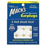 Macks Pillow Soft シリコン耳栓 6ペア NRR22 #7 透..